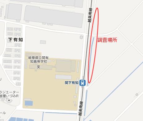 調査場所の地図